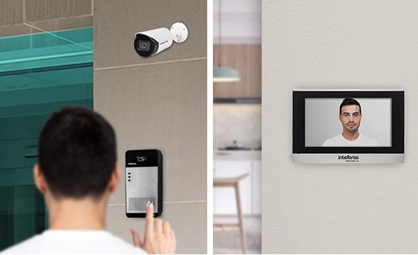 Monitor de vídeo IP integrado com interfones